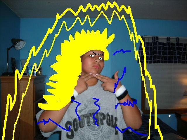 [Picture] Human Super Saiyan 3. This is a picture of me at level Super